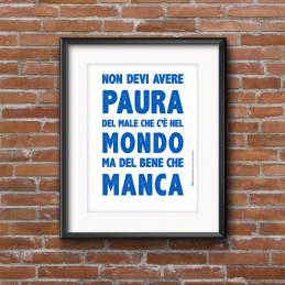POSTER NON DEVI AVERE PAURA...