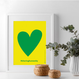 POSTER SHARING HUMANITY - HEART