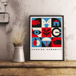 POSTER SHARING HUMANITY - PATCHWORK