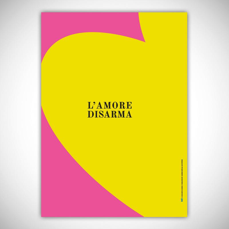 POSTER L'AMORE DISARMA - HEART