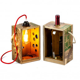 Portabottiglie/Lampada ecologica Rippotai